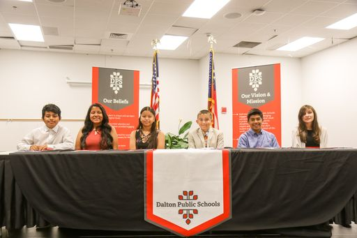 Second Class of REACH Georgia Scholars Signed From Dalton Middle School