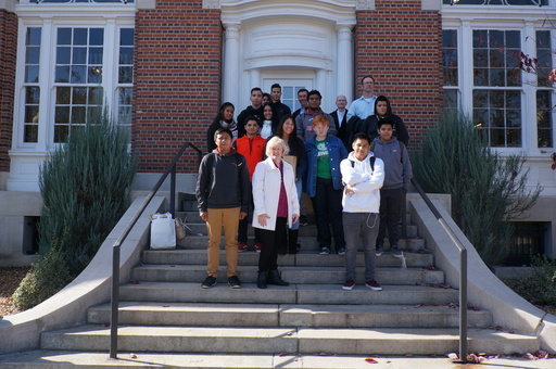 MIHS Entrepreneurship Students Tour Downtown Dalton