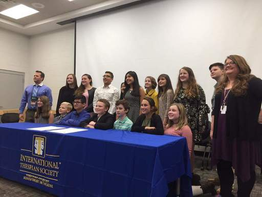 Dalton Middle Inducts Inaugural Members into Thespian Society
