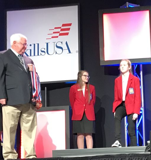 DHS Senior Morgan Young Places Second in Graphic Design SkillsUSA Competition