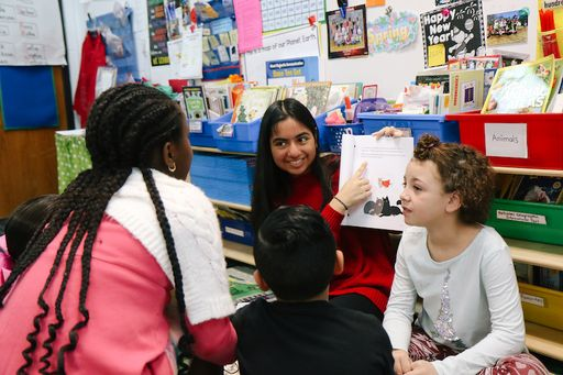 Dalton High Spanish Classes Present Original Stories to Westwood Students