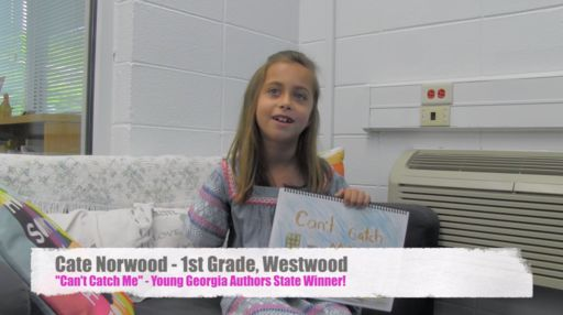 Cate Norwood is Young Georgia Authors State Winner