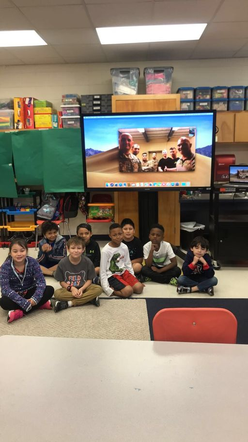 Blue Ridge Students Facetime With Soldiers