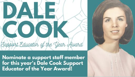 Dalton Education Foundation Now Accepting Nominations for Dale Cook Support Educator of the Year Award