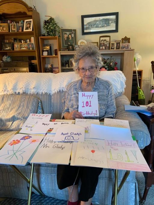 Westwood Elementary Students Celebrate 101-year-old's Birthday with Cards