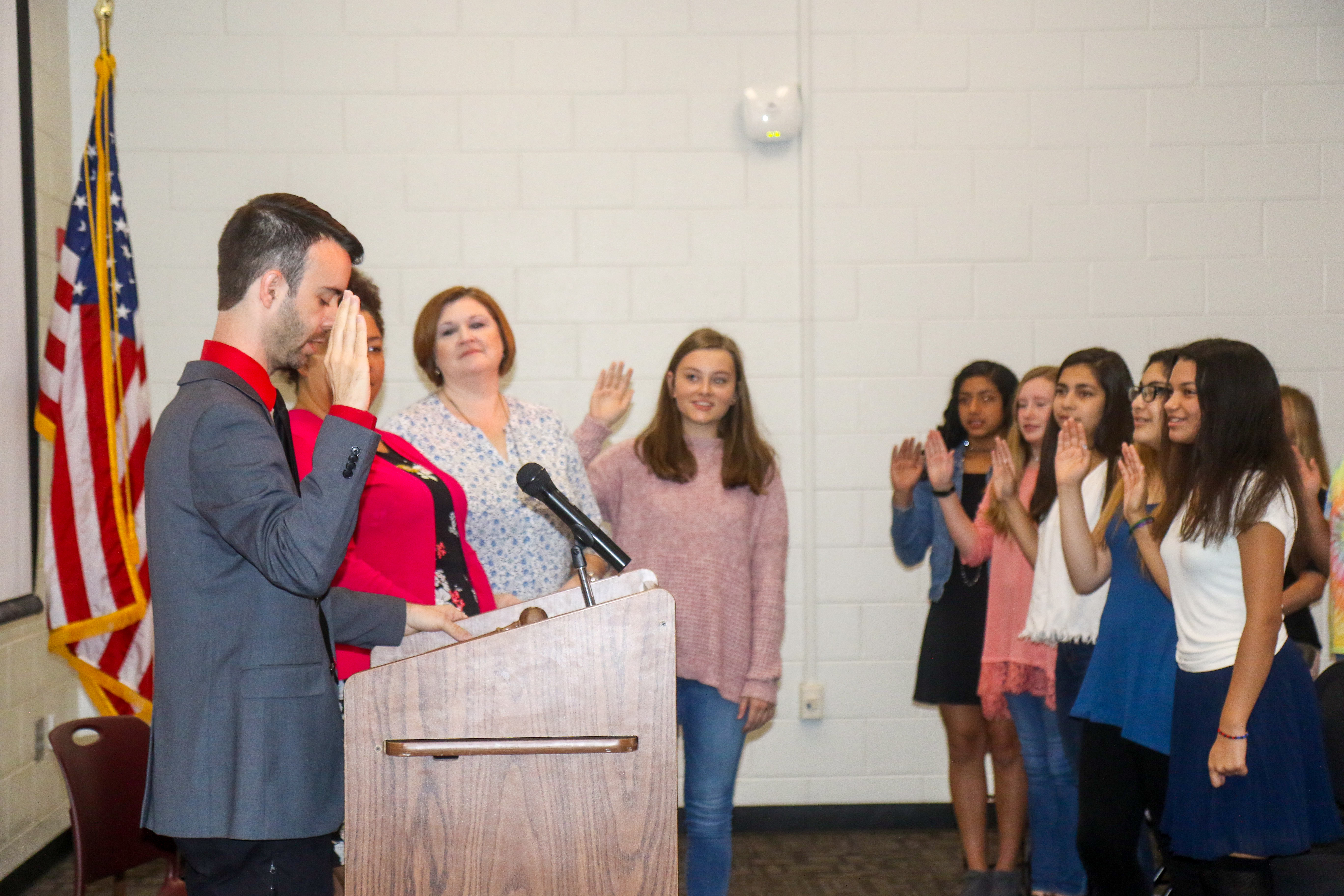 Students take SGA Oath