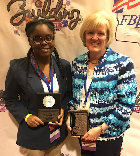 Daijah Page and Sheila Yarbrough with Awards