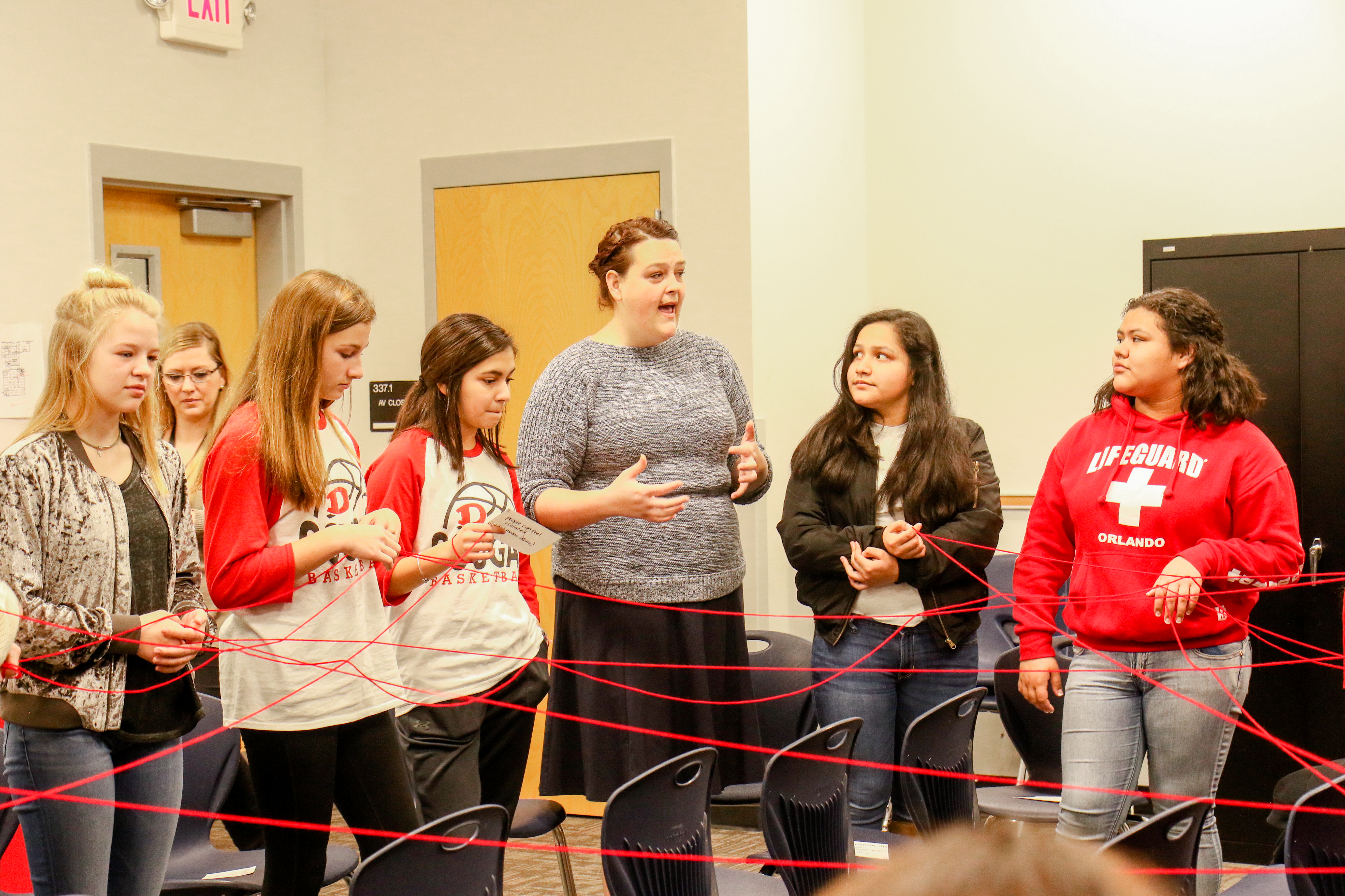 Basey Conducts Web Activity with Students