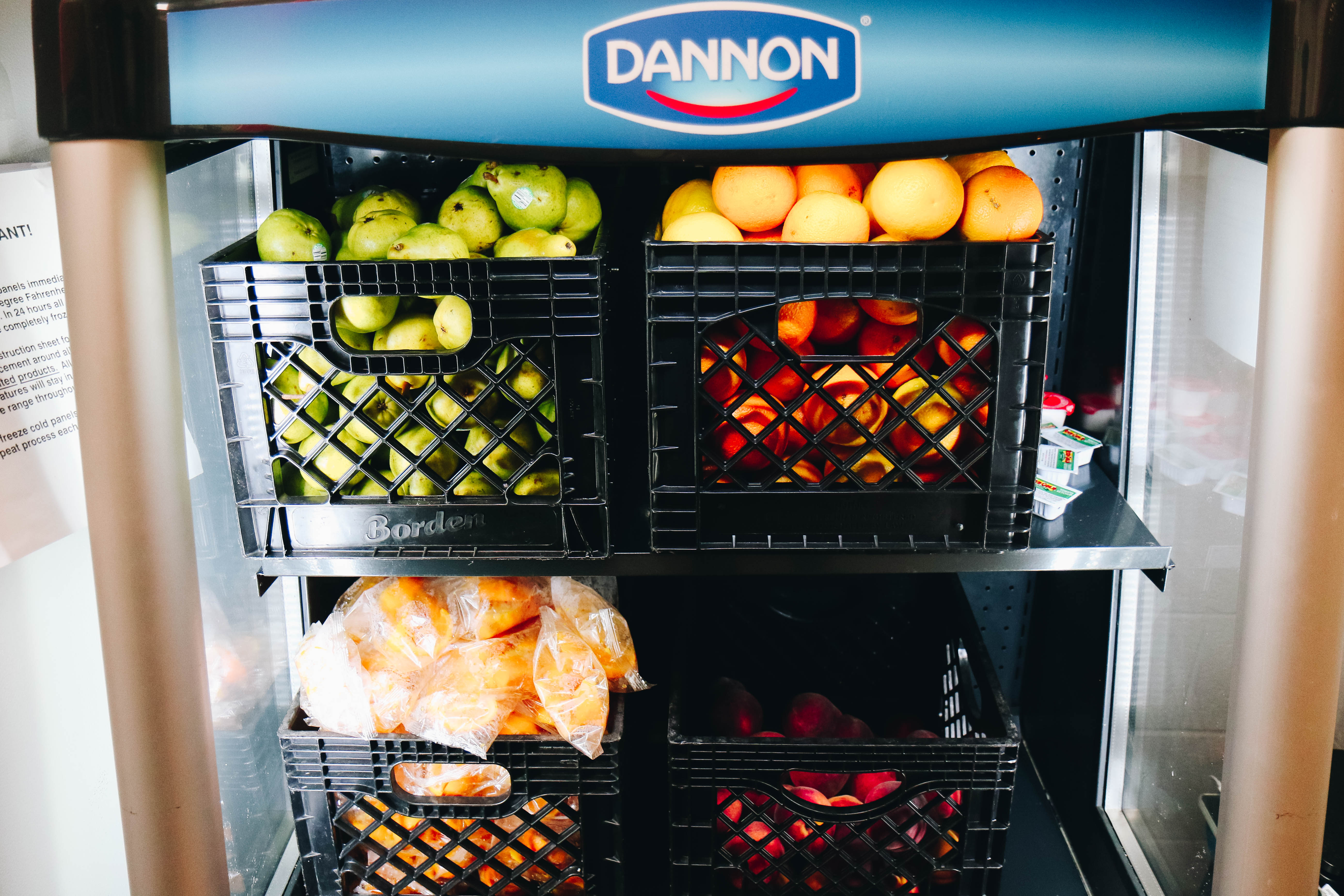 Fruit stored in fridge